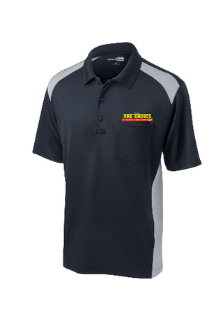Tire Choice - CornerStone® Select Snag-Proof Two Way Colorblock Pocket Polo