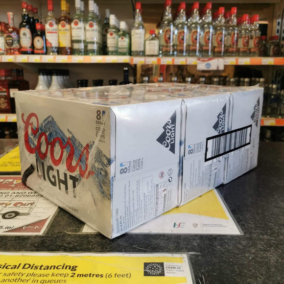 3 x 8 Pack Coors Light Delivered