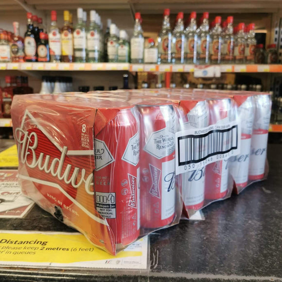3 x 8 Pack Budweiser Delivered