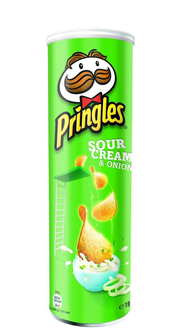 Pringles Sour Cream & Onion 190g - CarryOut Mulhuddart -  - Pringles Sour Cream & Onion 190g -  -  -Carry Out Mulhuddart - Dublin Beer Delivery - Dublin 15 Off Licence - Mulhuddart
