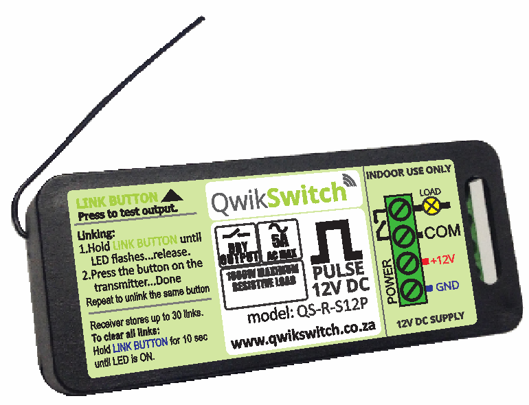 QwikSwitch 5A Pulse relay - 12V DC (QS-R-S12P)