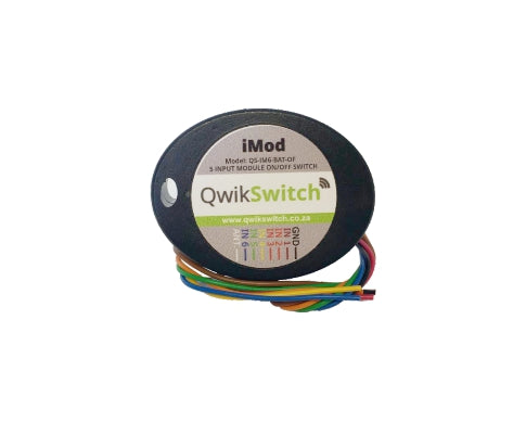 QwikSwitch 5 switch Imod - ON/OFF (QS-IM6-BAT-O/F)