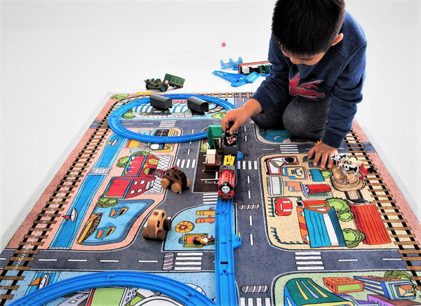 kids road rug car play mat