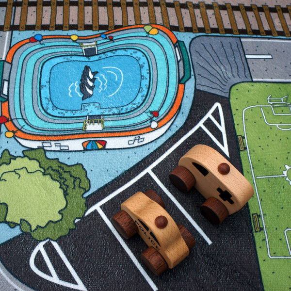 kids car play road rug
