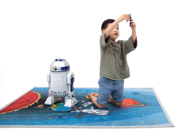 Universe play mat space learning kids rug