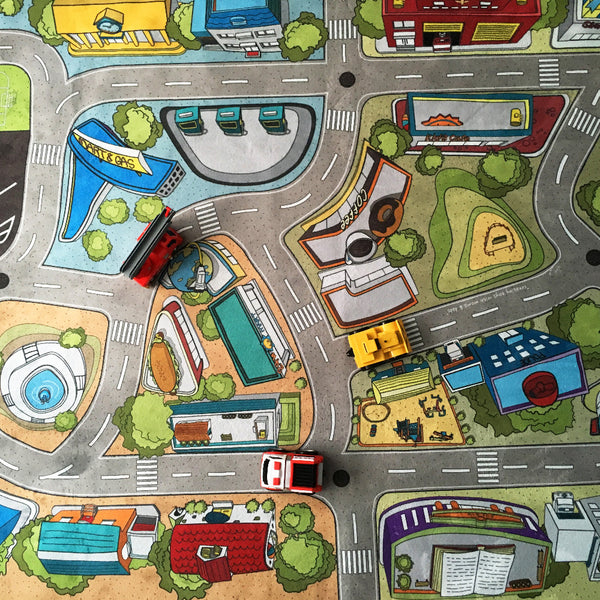 kids car play mat detail