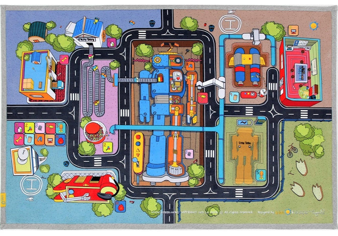 robot factory kids carpet rug