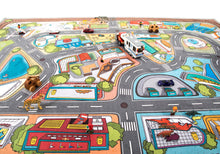 "79"" x 55"" Kids' Rug, Car Village Play mat NEW"