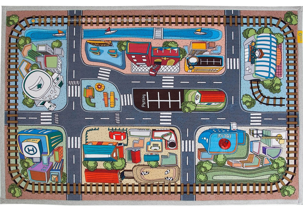 car carpet d play room road le lite bonheur cor x village mat rug kids products for