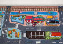 "59"" X 39"" Kids' Car Town Road Rug"