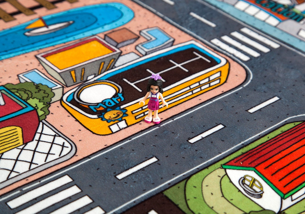 city rug cars eva fun play new playmat road toy kids giant mat foam carpet town pin