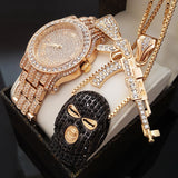 HIP HOP ICED OUT GOON, AK47 NECKLACE & LAB DIAMOND WATCH