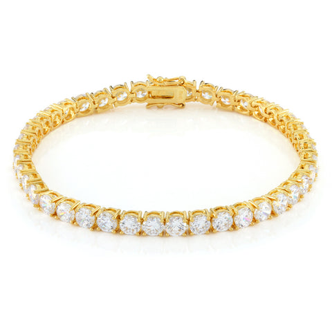 5mm, 14K Gold Single Row Pharaoh Bracelet