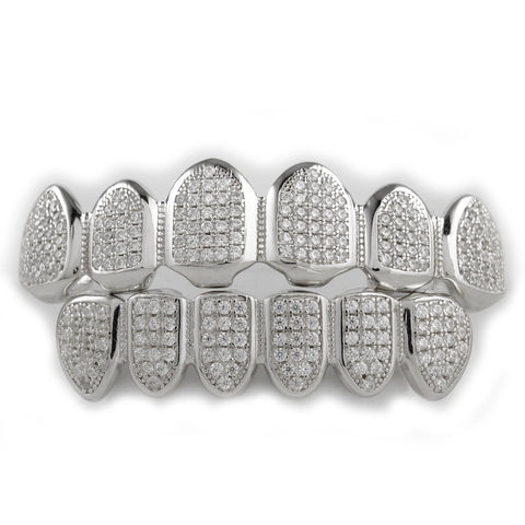 Sterling Silver 925 Grillz set Top & Bottom