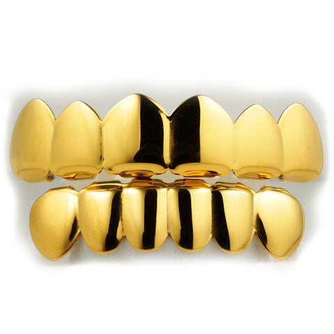 High Quality 14K Gold Plated Grillz Set