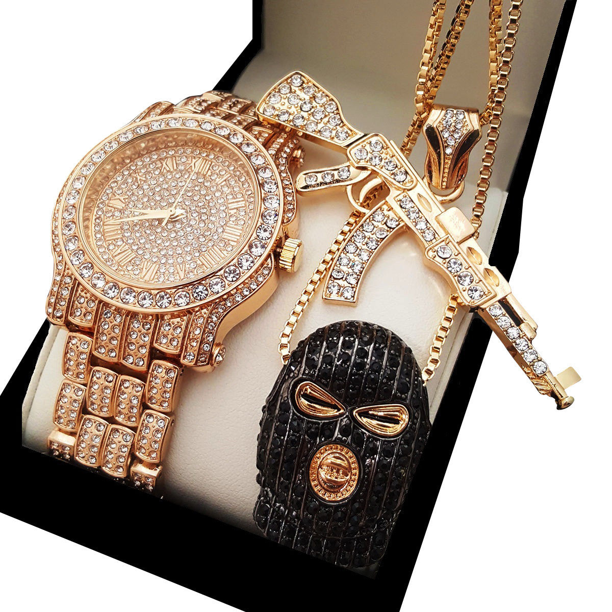 Special offer hip hop bright hip hop iced out goon ak47 necklace lab diamond watch aloadofball Images