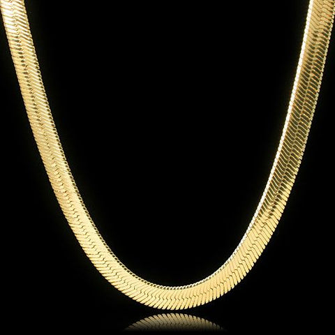 14K Gold Herringbone Chain