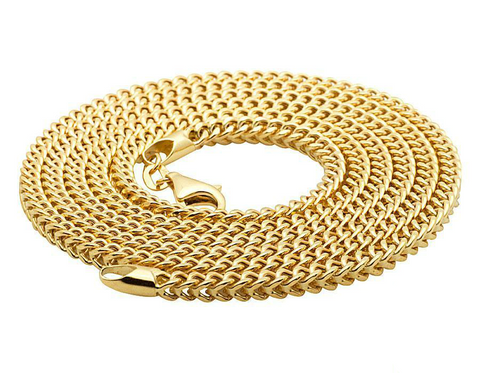 4mm 18K Gold Franco Chain