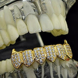 18k Gold Plated Fangs Bottom Grillz