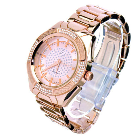 ROSE Gold Plated Stainless Steel Metal Mesh Band Watch