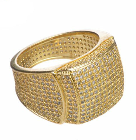 Gold Plated Band Fully Hand Ring