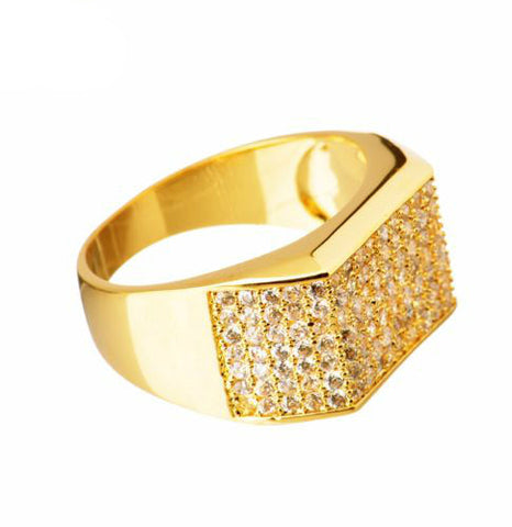 Gold Plated Brass Hand Ring