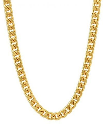 MIAMI CUBAN 14K GOLD PLATED CHAIN