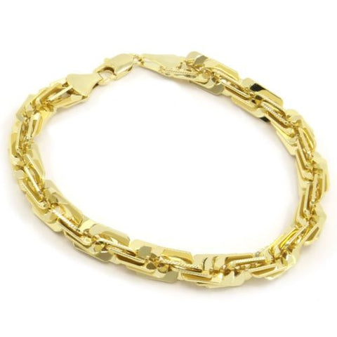 Gold Plated 3D Maze Rope Style Bracelet