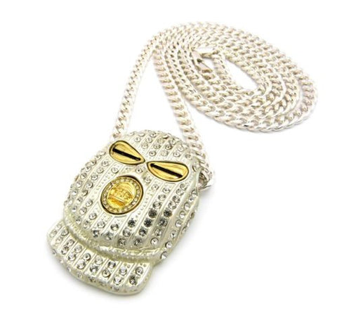 ICED OUT GOON SKI MASK PENDANT CUBAN CHAIN