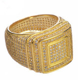 Gold Plated Double Square Style Pinky Ring