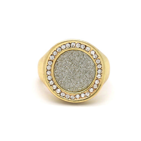 Gold Hip hop Ring
