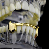 14k Gold Plated Slim Bottom Lower Fang New Teeth Grill