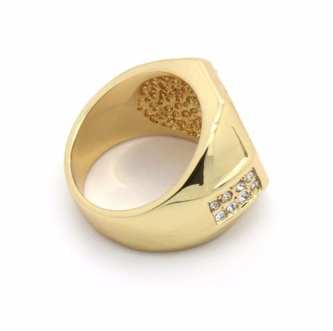 Gold Plated Shield Ring
