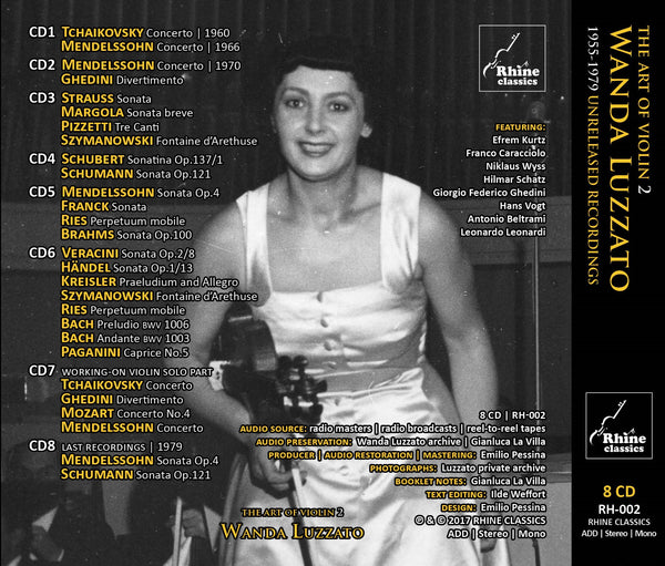 RH-002 | 8CD | Wanda Luzzato - complete private archive recordings