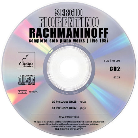 RH-006 | 6CD | SERGIO FIORENTINO | CD #2 new remastering with correct pitch