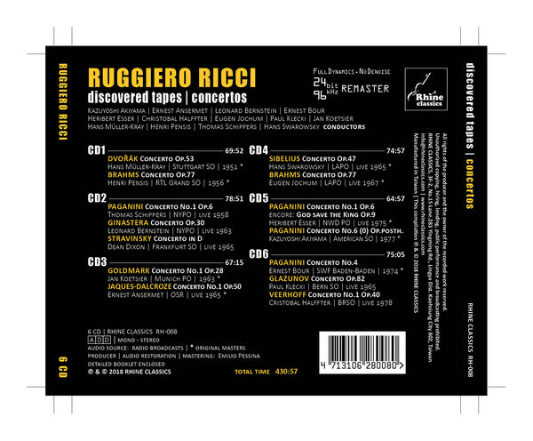 RH-008 | 6CD | Ruggiero Ricci Centenary Edition -1-