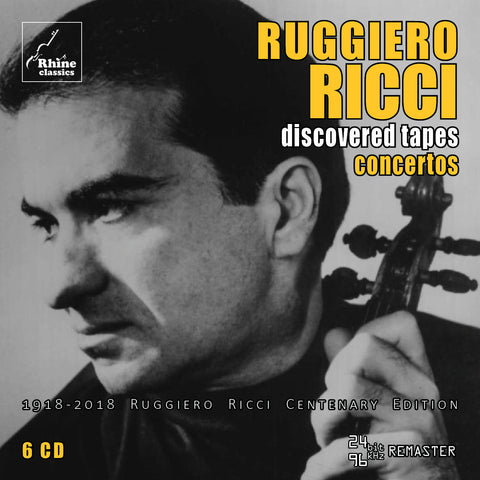 RH-008 | 6CD | Ruggiero Ricci Centenary Edition -1- concertos