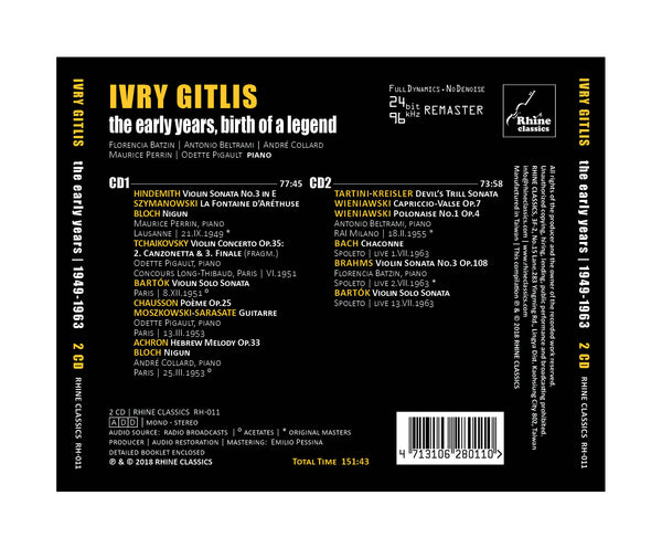 RH-011 | 2CD | IVRY GITLIS - the early years