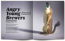 Opening Spread from our Brewdog feature with image of infamous End of History packaging made from a stuffed animal