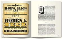 Typographic spread from feature on Women in brewing