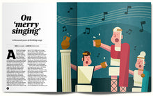 Illustrated article on drinking songs