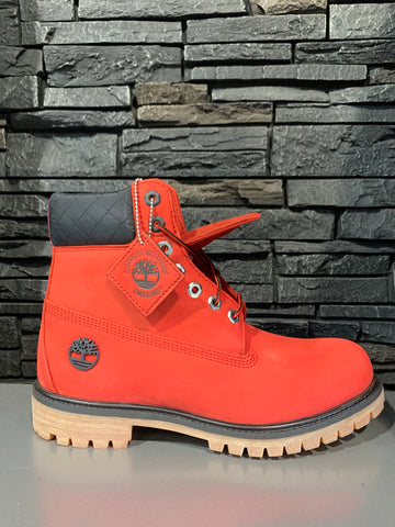 Timberland men 6 inch bulls red boot