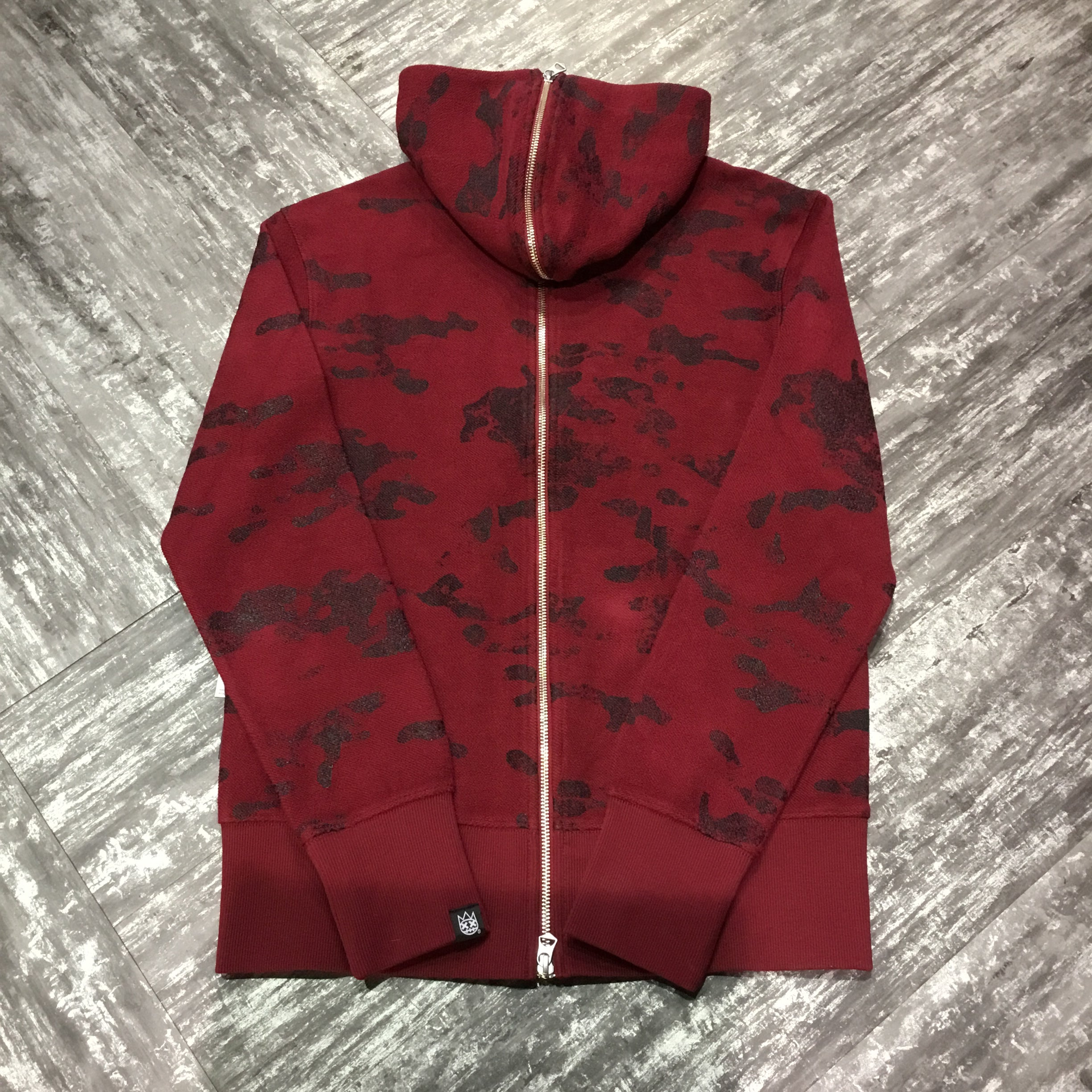 Cult of individuality Men Camo hoodie with stones