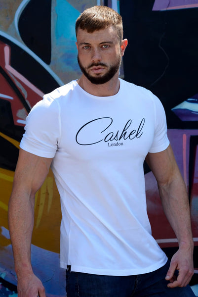 First Release White T Shirt - Longline - Muscle Fit
