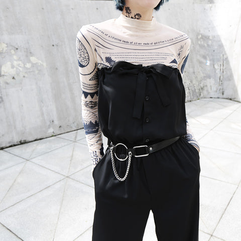 STRAPS WRAPPED CHEST JUMPSUIT
