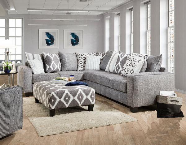 Stonewash Black Sectional Sofa Group