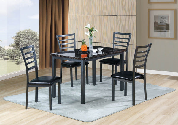 Pacifica Dining Table Black Marble Design - Furnlander