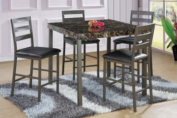 Rio Counter Table Set  5 PCS SET (1T + 4CH) - Furnlander