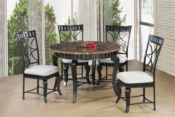 Arya Dining Table 5 PCS. Set (1T+4C) - Furnlander