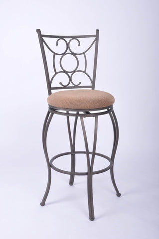 Lewis Metal Swivel Bar Stool - Furnlander
